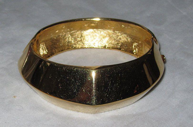 Chunky Vintage Givenchy Wide Goldtone Bracelet