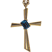 Given hey Large Goldtone Cross Pendant