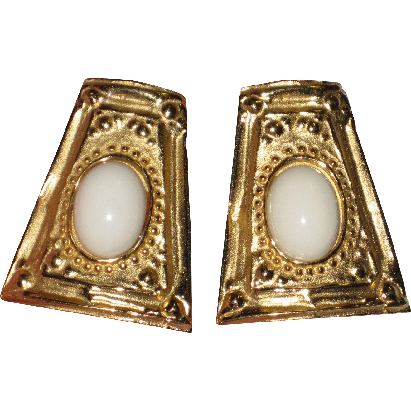 Vintage Givenchy Bold Clip Earrings
