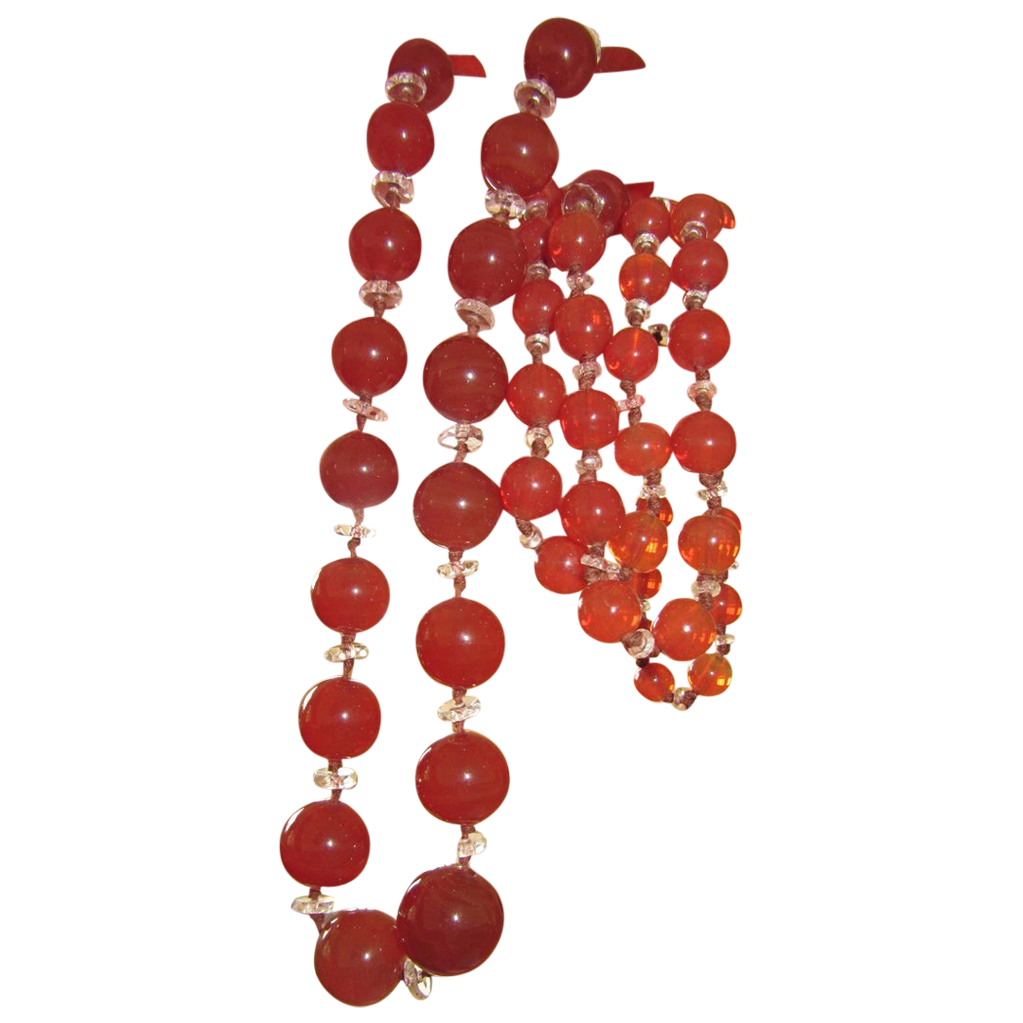Beautiful Flapper Glass Beads
