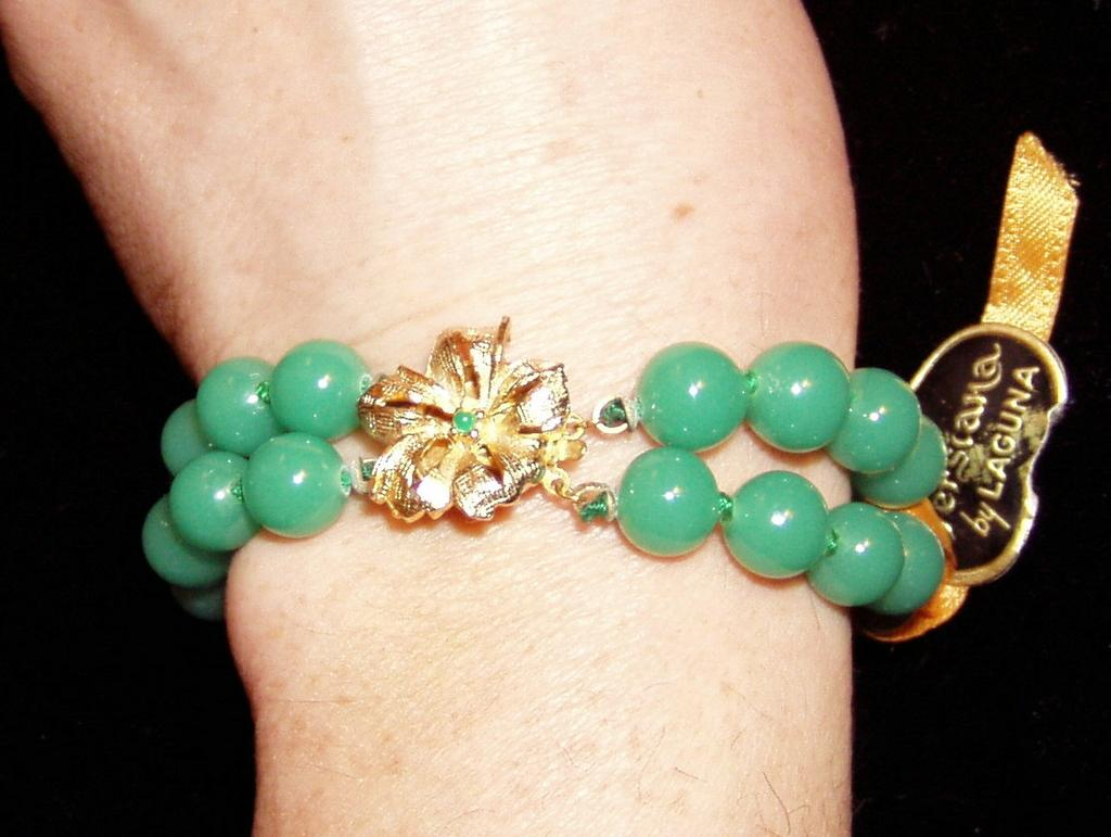 Laguna Bracelet and Earrings Peking Glass