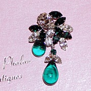 Gorgeous Rhinestone Brooch and Earrings