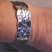 Sterling Cuff Bracelet Handmade by LAKME