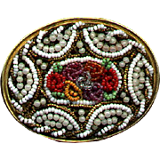 Early Gorgeous Fine Beaded Brooch