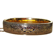 Beautiful Vintage Gold Filled Taille d'Epargne Bracelet