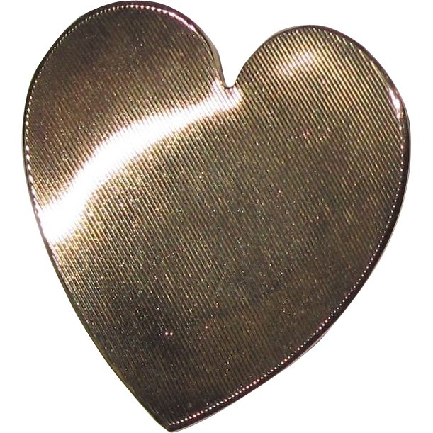 14K Gold Heart Brooch