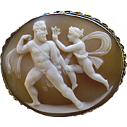 Mythology Hercules Heracles Wearing the Skin of the Nemean Lion Museum Quality Cameo