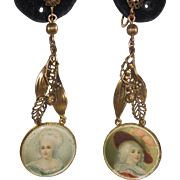 Early Hobe Portrait Earrings Lily of the Valley