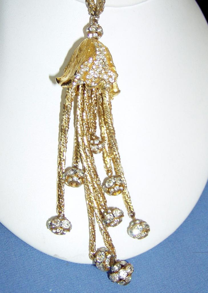 Gorgeous Designer Long Chain Drop Necklace Pendant
