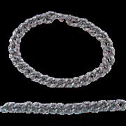 Modernist Silver Alphonse La Paglia Necklace and Bracelet
