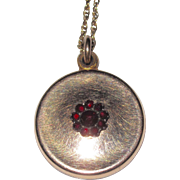 Vintage Small Garnet Locket
