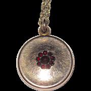 Vintage Small Garnet Locket