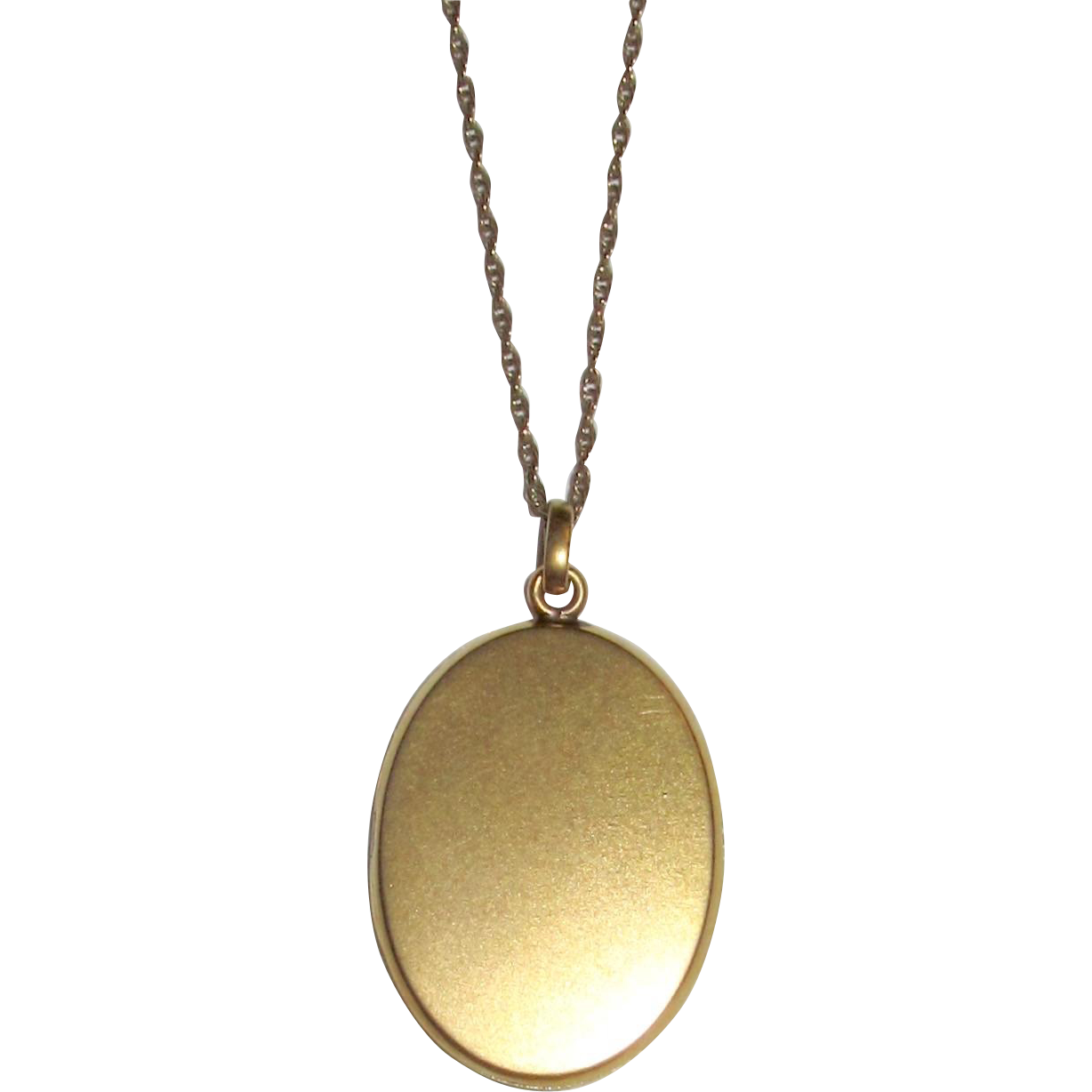 Vintage Oval Locket Plain Gold Tone
