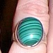 Vintage Silver Malachite Ring