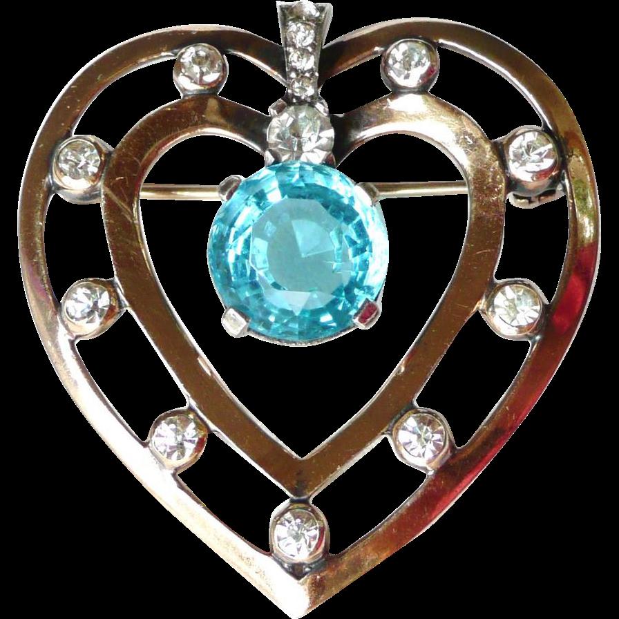 Mazer Vintage Heart Brooch