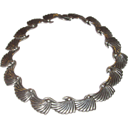 Mexico Sterling Articulated Collar Choker Necklace