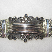 Large Sterling Mexico Bracelet