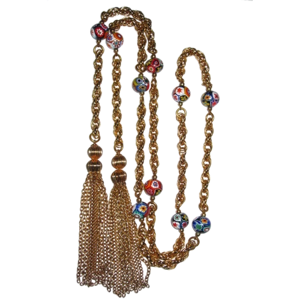 Fabulous Tassel Long Necklace 54 Inches
