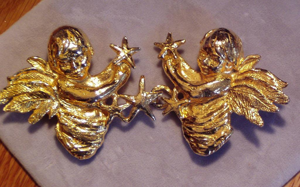 Vintage 1972 Mimi di N Large Angels Belt Buckle