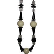 Wow Black and Cream Vintage Beads