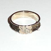 Victorian Rose Gold Woven Hair Memorial Ring