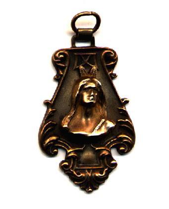 Art Nouveau Brass Fob Figural