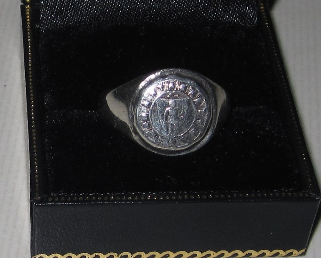 Vintage Sterling Signet Ring Nantasket Beach