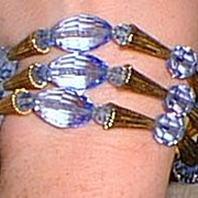 Lovely Napier Blue Crystal Bracelet