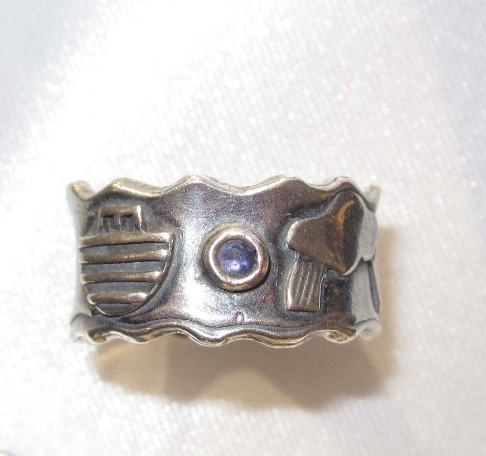 Sterling Noah's Ark Ring