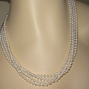 Beautiful Four Strand Pearls Necklace 14K Clasp