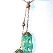 Peking Glass Lavaliere