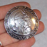 Gorgeous Silver Brooch Peru