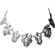 Outstanding Cini Peruzzi Style Sterling Necklace Earrings