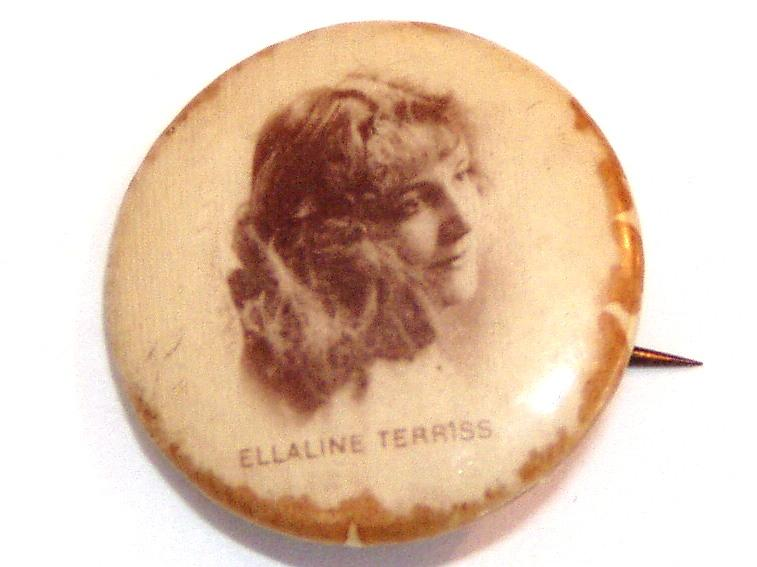 Small Button Photo Pin Ellaline Terriss