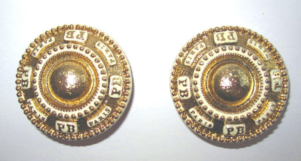 Vintage Pierre Balmain Paris Huge Earrings