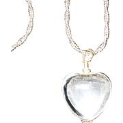 Pools of Light Glass Heart Literally Locket Large Valentine's Day