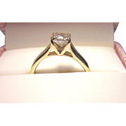 Princess Hearts on Fire 3/4 carat 18K Diamond Solitaire Ring