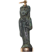 Rare Egyptian Amulet Sekhmet Set in RoseGold