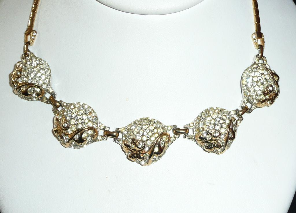 Vintage Reja Choker Necklace and Earrings Set