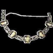 Vintage Sterling Citrine Retro Bracelet