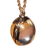 Antique Oval Rock Crystal Locket Gorgeous Pools of Light