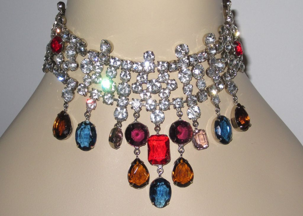 Fabulous Runway Necklace and Clip Earrings