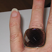 Wow! Huge 14K Gold Smoky Topaz Ring
