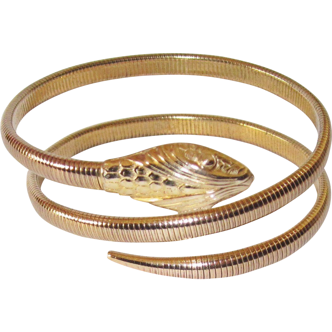 art deco forstner snake bracelet from phalan on ruby lane