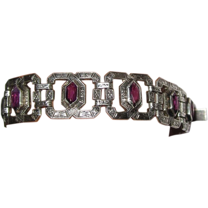 Art Deco Sterling Bracelet Best!