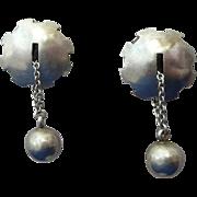 Modern Silver Studio Earrings Excellent