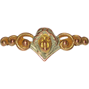 Sweet Art Nouveau Lady Small Bar Pin
