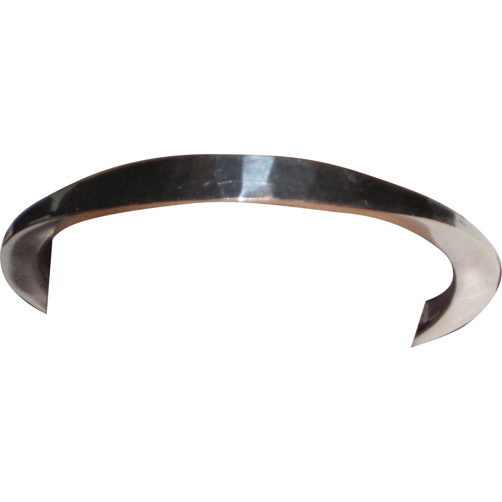 Vintage Modern Sterling Tone Vigeland Norway Bangle Bracelet