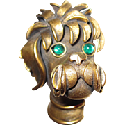 Adorable Trifari Poodle Head Brooch