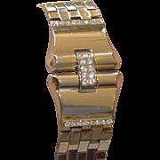 Early Trifari Tessellated Rhinestone Bracelet Retro